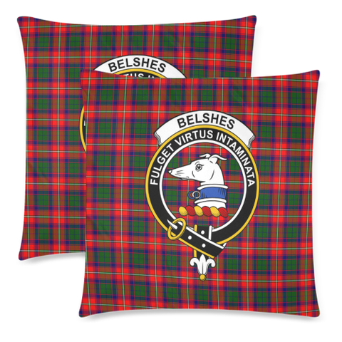 Belshe  Clan Badge Tartan Pillow Cover