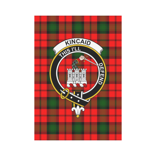 Kincaid Clan Badge Tartan Garden Flag