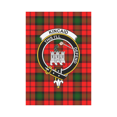 Image of Kincaid Clan Badge Tartan Garden Flag