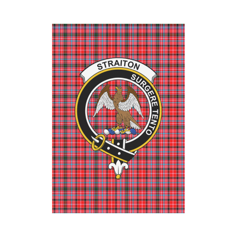 Image of Straiton Aderbeen Clan Badge Tartan Garden Flag