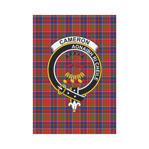 Cameron of Lochiel Clan Badge Tartan Garden Flag
