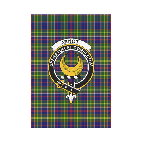 Arnot Clan Badge Tartan Garden Flag H01 Garden Flag 28''x40'' (Without Flagpole)
