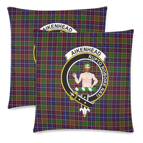 Aikenhead  Clan Badge Tartan Pillow Cover