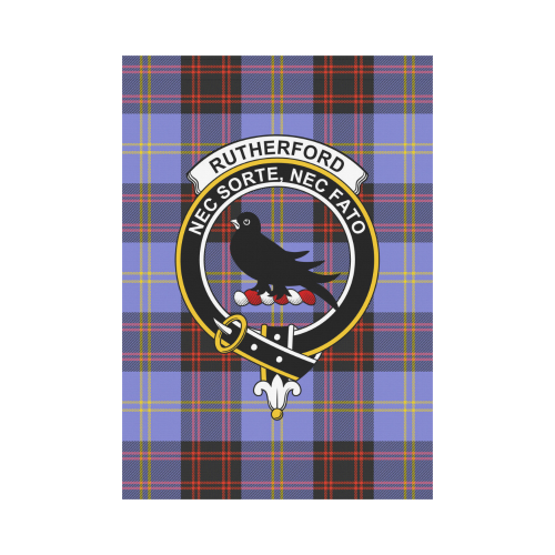 Rutherford Clan Badge Tartan Garden Flag