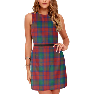 Auchinleck Tartan Sleeveless Dress H01