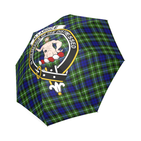 Allardice  Clan Badge Tartan Umbrella