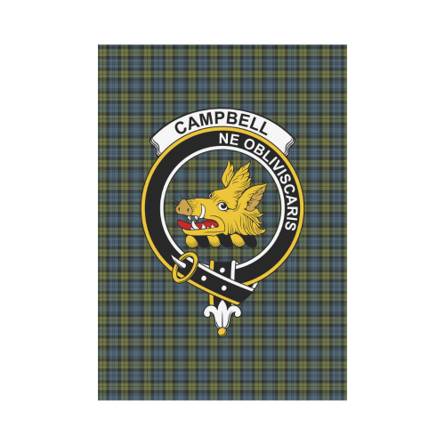 Campbell Clan Badge Tartan Garden Flag