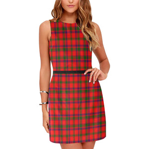 Bain Dress Tartan Sleeveless Dress H01