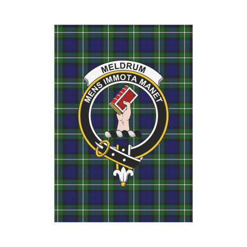 Meldrum Forbes Clan Badge Tartan Garden Flag