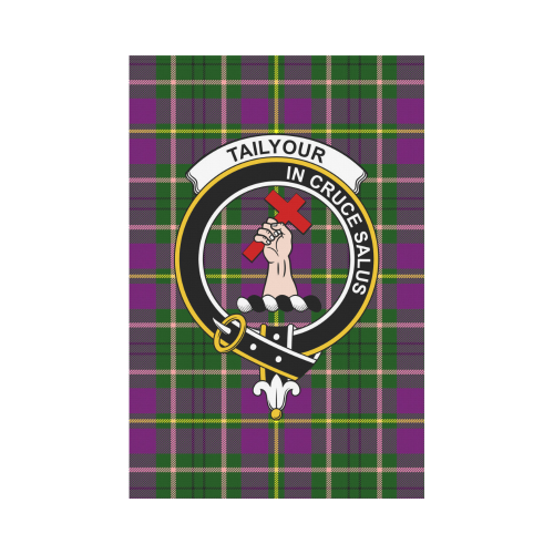 Taylor Clan Badge Tartan Garden Flag