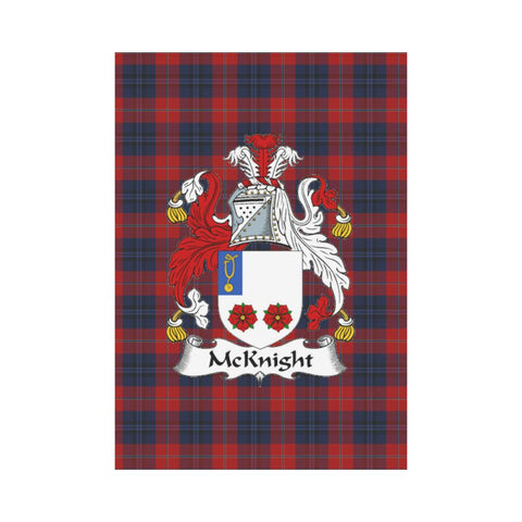 Image of McKnight Clan Badge Tartan Garden Flag