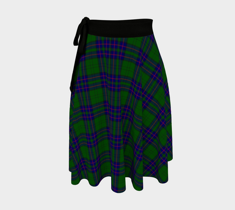 Image of Lockhart Modern Tartan Wrap Skirt