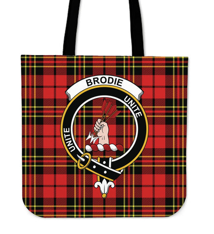 Brodie Clan Badge Tartan Tote Bag