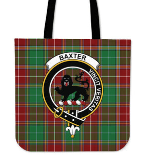 Baxter Clan Badge Tartan Tote Bag