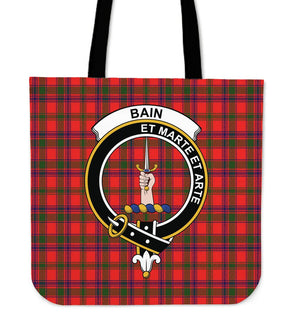 Bain Clan Badge Tartan Tote Bag