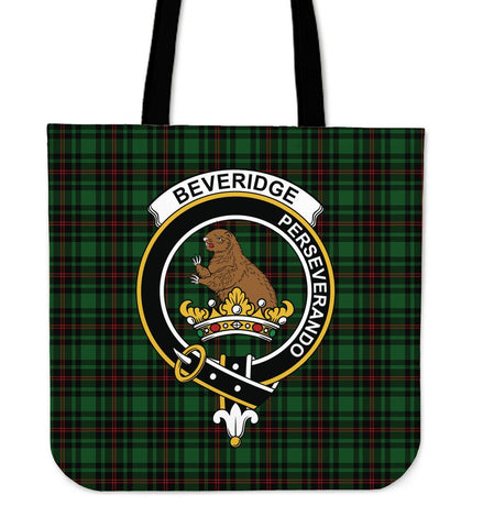 Beveridge Clan Badge Tartan Tote Bag