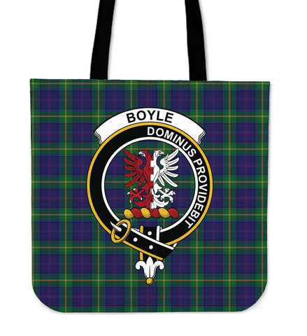 Boyle Clan Badge Tartan Tote Bag