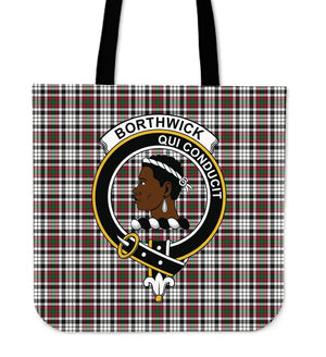 Borthwick Clan Badge Tartan Tote Bag