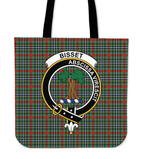 Bisset Clan Badge Tartan Tote Bag