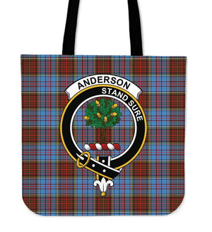 Anderson Clan Badge Tartan Tote Bag