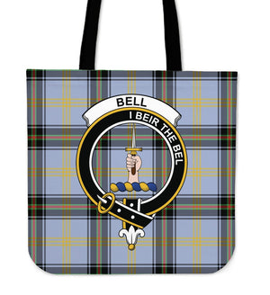 Bell Of The Borders Clan Badge Tartan Tote Bag