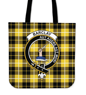 Barclay Clan Badge Tartan Tote Bag