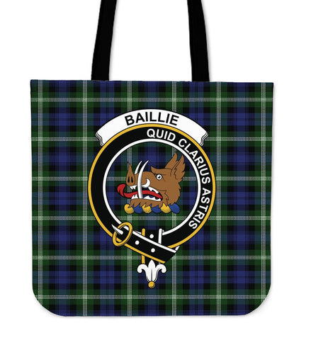 Baillie Clan Badge Tartan Tote Bag