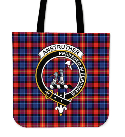 Anstruther Clan Badge Tartan Tote Bag