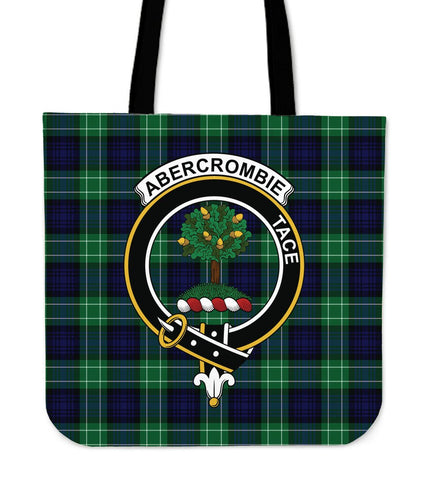 Image of Abercrombie Clan Badge Tartan Tote Bag