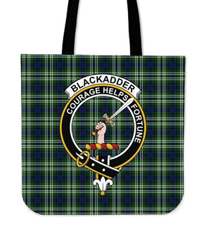 Blackadder Clan Badge Tartan Tote Bag