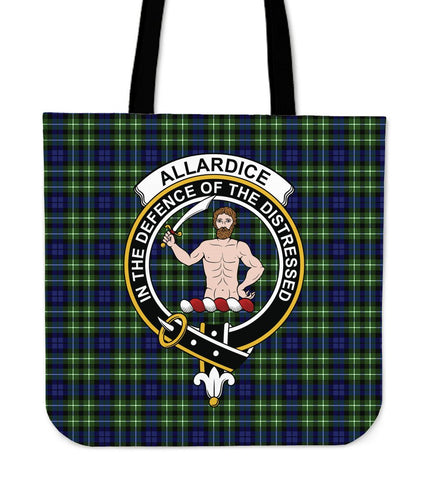 Allardice Clan Badge Tartan Tote Bag