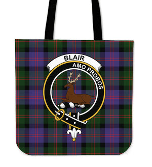 Blair Clan Badge Tartan Tote Bag