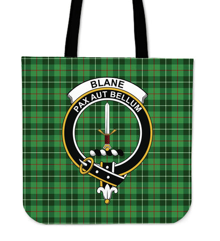 Blane Clan Badge Tartan Tote Bag