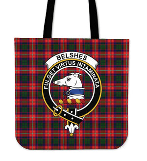 Belshe Clan Badge Tartan Tote Bag