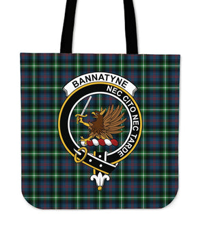 Bannatyn Clan Badge Tartan Tote Bag