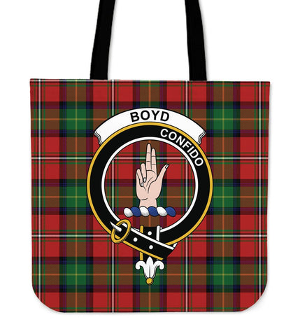 Boyd Clan Badge Tartan Tote Bag