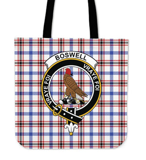 Boswell Clan Badge Tartan Tote Bag
