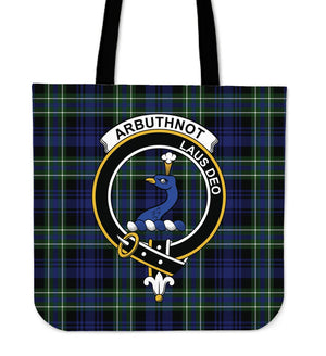 Arbuthnot Clan Badge Tartan Tote Bag