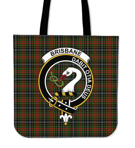 Brisbane Clan Badge Tartan Tote Bag