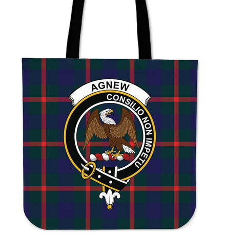 Agnew Clan Badge Tartan Tote Bag