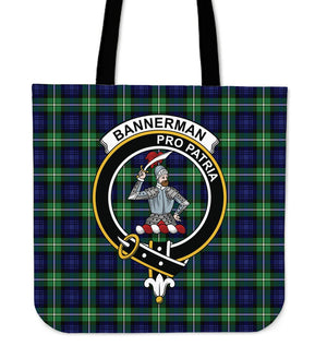 Bannerman Clan Badge Tartan Tote Bag