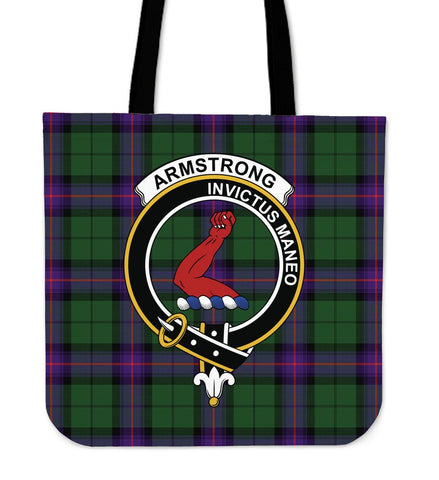 Armstrong Clan Badge Tartan Tote Bag