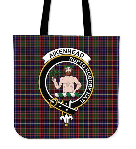 Aikenhead Clan Badge Tartan Tote Bag