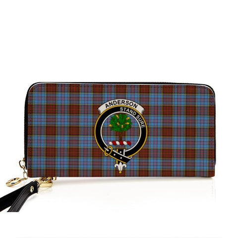 Anderson Clan Badge Tartan Zipper Wallet