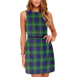 Alexander Tartan Sleeveless Dress H01