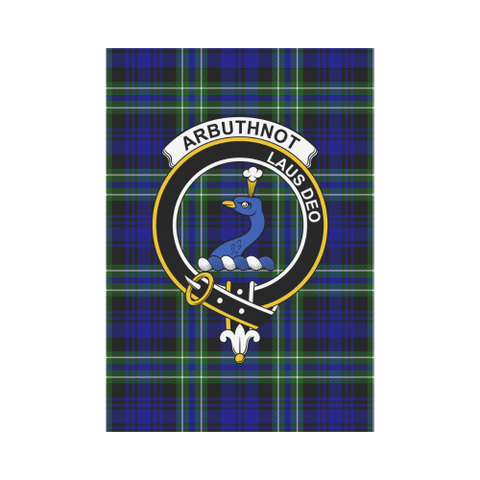 Image of Arbuthnot Clan Badge Tartan Garden Flag