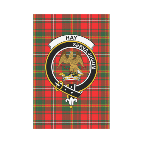 Image of Hay Clan Badge Tartan Garden Flag