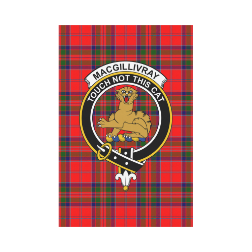MacGillivray  Clan Badge Tartan Garden Flag