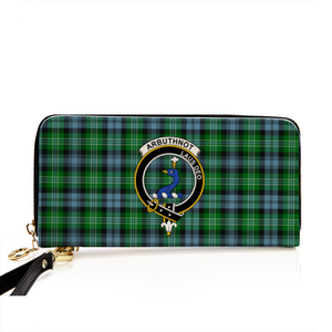 Arbuthnott Clan Badge Tartan Zipper Wallet