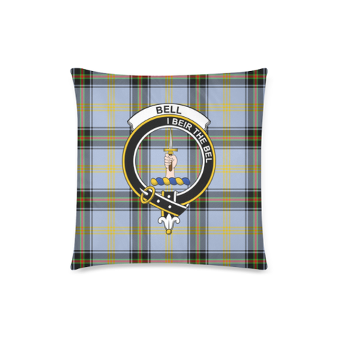 Bell Of The Borders  Clan Badge Tartan Pillow Cover